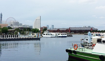 象鼻公園,從另一個角度遠眺橫濱紅倉庫。