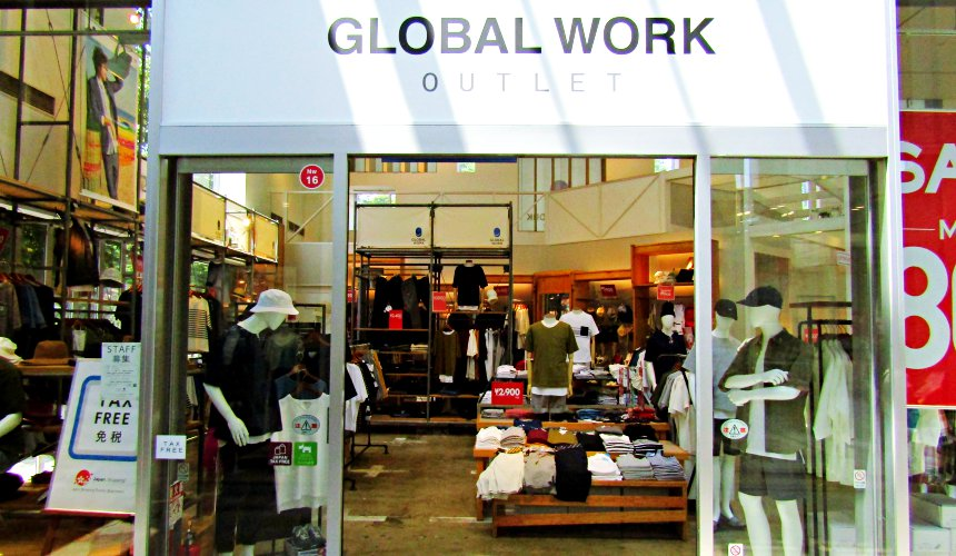 輕井澤outlet GLOBAL WORK