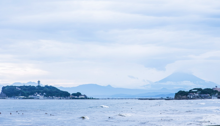 湘南海岸玩水海景