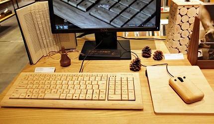 「Hacoa」木製鍵盤滑鼠