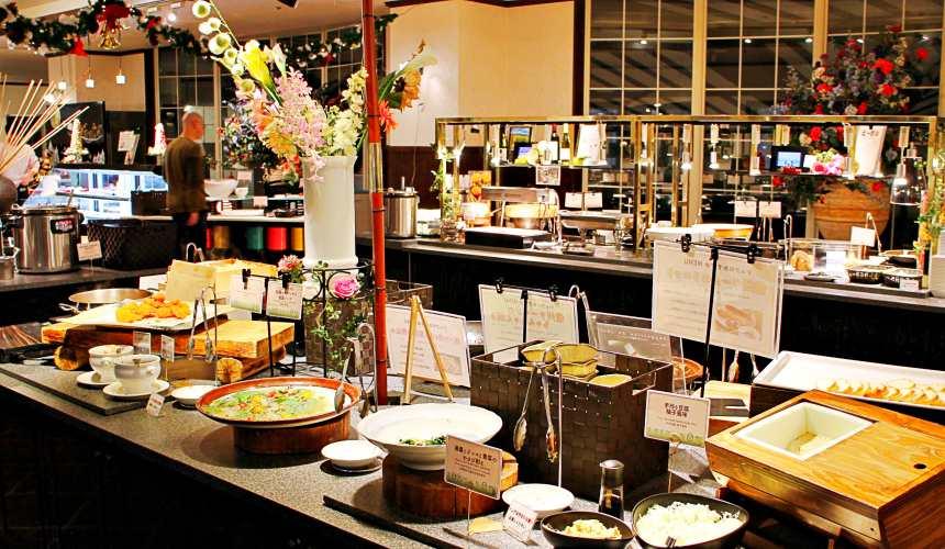 東京推薦滑雪場飯店長野白馬HOTEL GREEN PLAZA HAKUBA晚餐早餐自助式