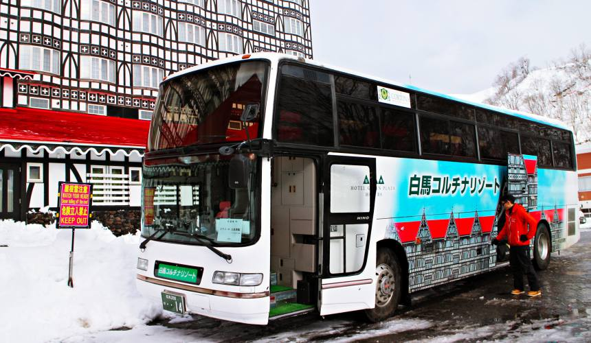 長野白馬HOTEL GREEN PLAZA HAKUBA白馬CORTINA滑雪場接駁巴士