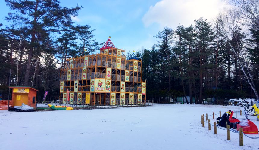日本輕井澤「HOTEL GREEN PLAZA 輕井澤」附近的玩具王國室外景色