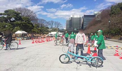 皇居週日免費自行車