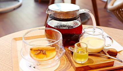 東京代官山 KIRIN午後の紅茶實體概念店Milk. Black. Lemon. By GOGO NO KOCHA2018春季限定飲品柳橙茶Hot Orange Chai Tea