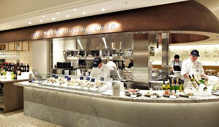Boston Oyster & Crab的開放式廚房