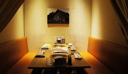 東京車站北海道和牛與海鮮推薦「北海道之旬 燒肉田村」的半包廂座位