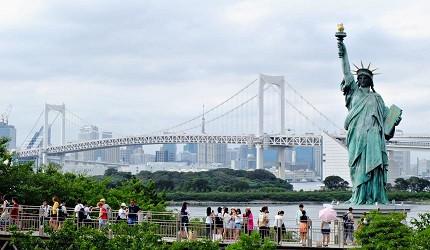 東京台場景點自由女神彩虹橋