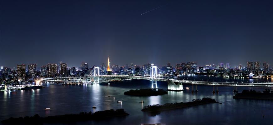 東京台場日航大酒店頂級飯店住宿彩虹橋夜景