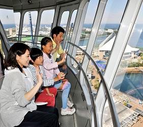 日本橫濱八景島海島樂園旋轉式瞭望台內部