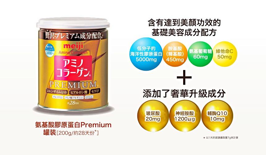 明治金色版「膠原蛋白粉PREMIUM」