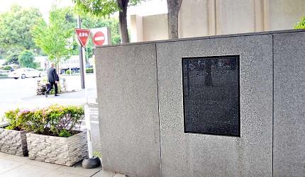 鹿鳴館已被拆除,只剩紀念的石碑