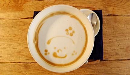 café Lotta熱拿鐵上面的溫暖笑臉