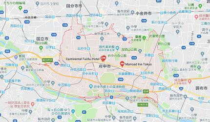 東京都府中市地圖