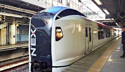 搭乘「成田特快N'EX」到成田機場僅需一個多小時
