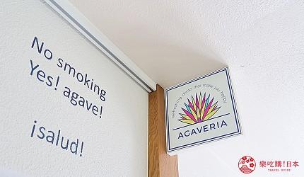 東京代代木果汁吧「Agaveria」店門口招牌