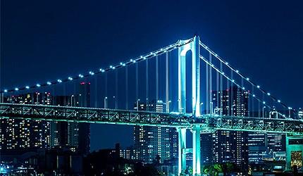 東京自由行必逛景點「台場」的晴海客船航廈展望台夜景