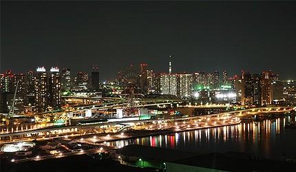 東京自由行必逛景點「台場」的電訊中心展望台夜景