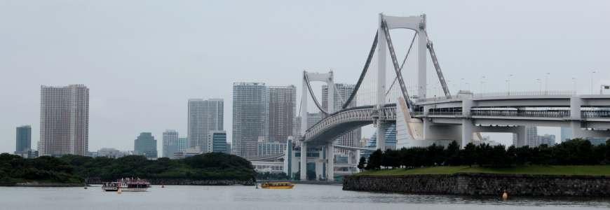 東京自由行必逛景點「台場」行程推薦!台場的彩虹大橋(レインボーブリッジ)