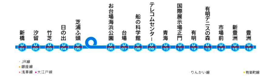 東京自由行必逛景點「台場」搭乘百合海鷗線
