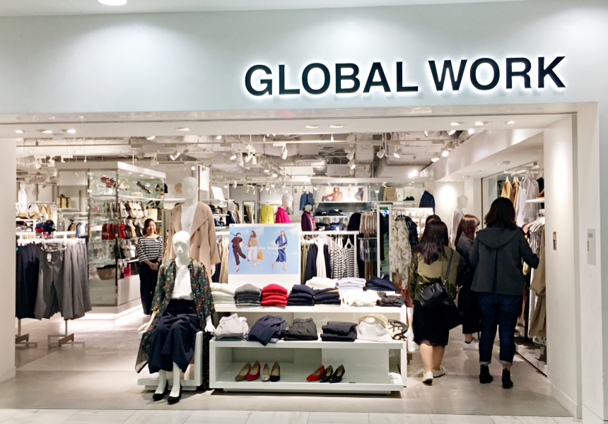 池袋的綜合商業設施Sunshine City b1跟1樓的ALTA內的GLOBAL WORK店
