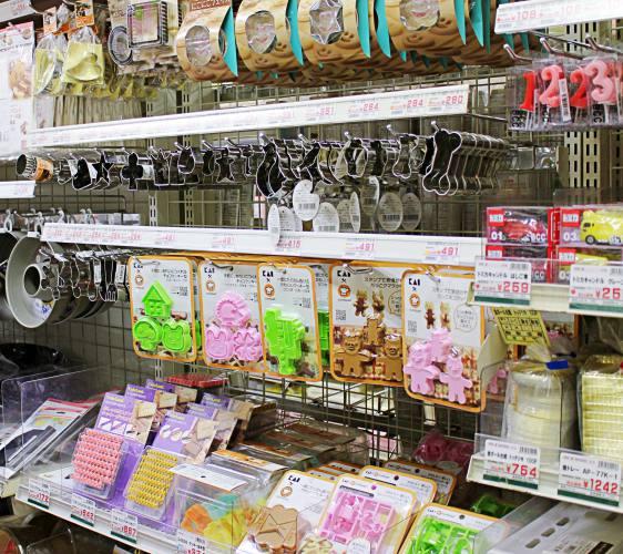 「シモジマ 下岛包装广场 浅草桥本店」贩售的手作料理道具