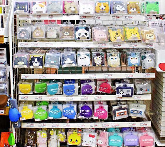 「シモジマ 下岛包装广场 浅草桥本店」贩售的果冻零钱包