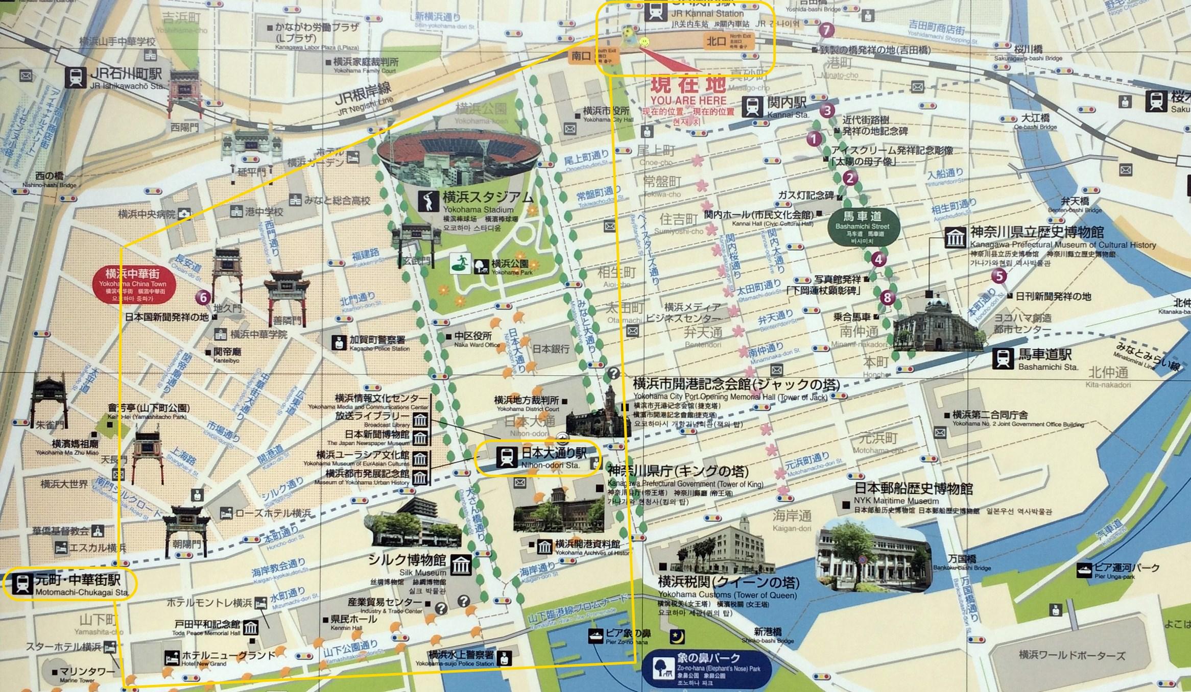 橫濱關內地圖