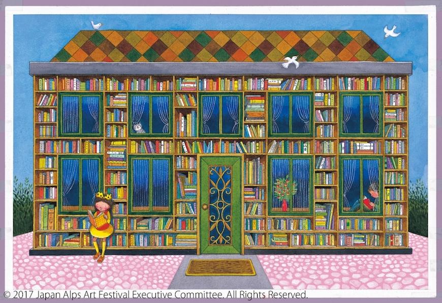 幾米展出日本大町北阿爾卑斯藝術祭的街角圖書館