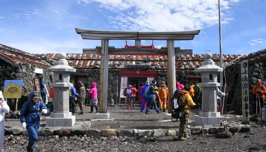 日本富士山頂上浅間大社奥宮