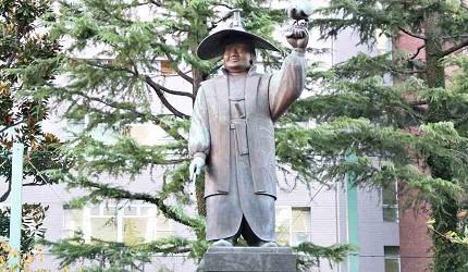 德川家康狩獵的雕像