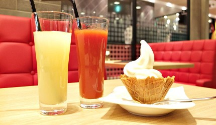 北海道くろまる的果汁和甜點