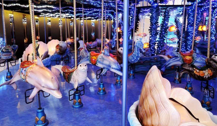 東京水族館樂園「Maxell Aqua Park 品川」旋轉木馬