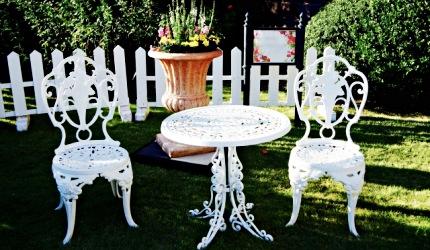 舊古河庭園的庭園餐桌