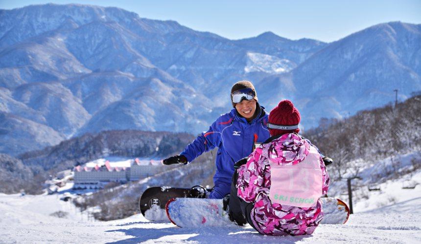 滑雪教學課程長野白馬CORTINA滑雪場