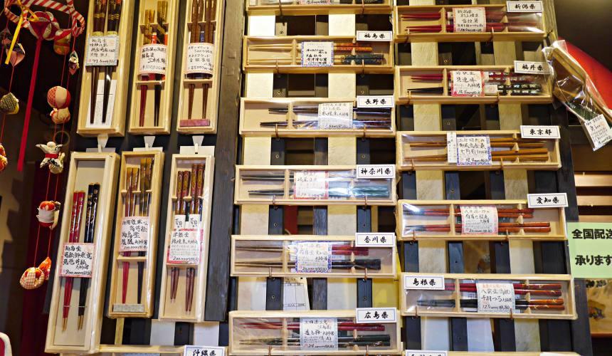 東京筷子專賣店「銀座夏野」的筷子來自日本各地職人之手