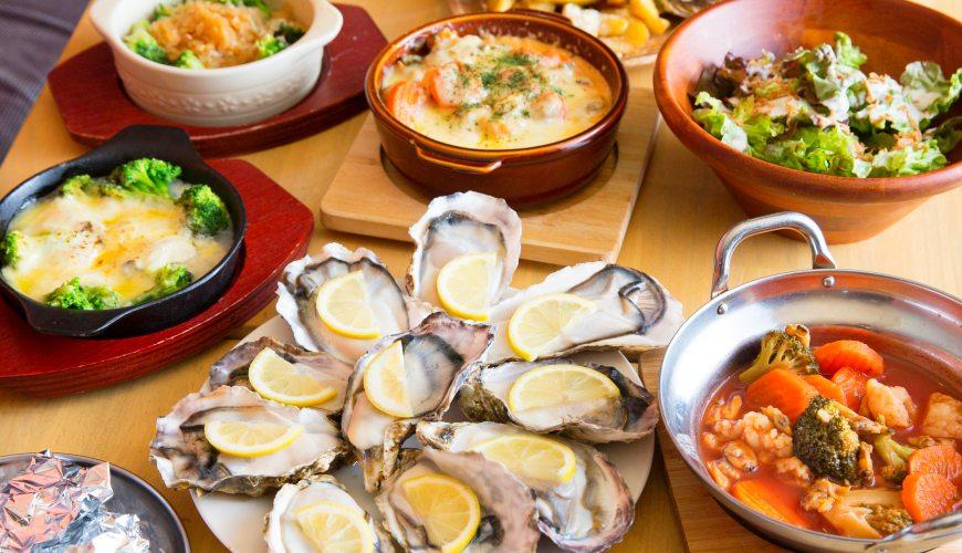 東京新宿牡蠣料理吃到飽餐廳推薦「UMI BAL」吃到飽套餐