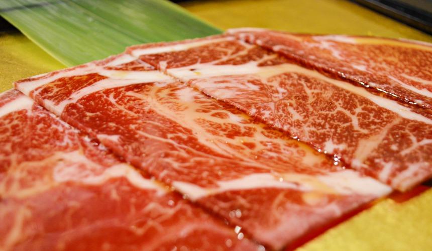 日本和牛吃到飽東京人氣燒肉名店「六歌仙」高級里脊肉