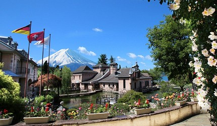 日本的富士山附近的博物館河口湖音樂森林