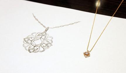 日本最大的訂製珠寶飾品專賣店「K.UNO」以店內的項鍊風格做變化的設計圖樣