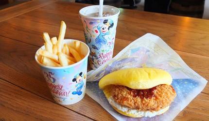 東京迪士尼樂園唐老鴨炸肉餅三明治