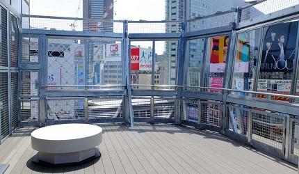 澀谷涉谷站前十字路口拍攝推薦景點,MAGNET by SHIBUYA 109 屋上庭園的展望台「CROSSING VIEW」