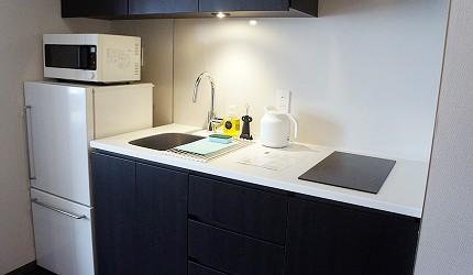 公寓式飯店「MIMARU」的廚房選用無印良品家電