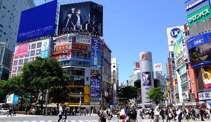 澀谷站前十字路口和主要商圈