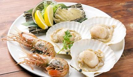 北海道札幌車站北海道和牛與海鮮推薦「YAKINIKU BAR TAMURA」的特級海鮮拼盤