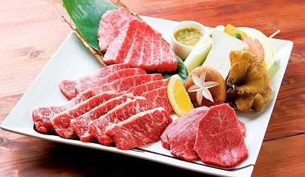 札幌車站周邊品嚐北海道和牛與海鮮推薦「YAKINIKU BAR TAMURA」的燒肉照片