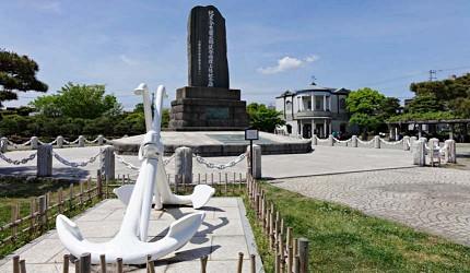 1853年培里從橫須賀的久里濱上陸