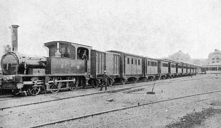 明治初期的火車