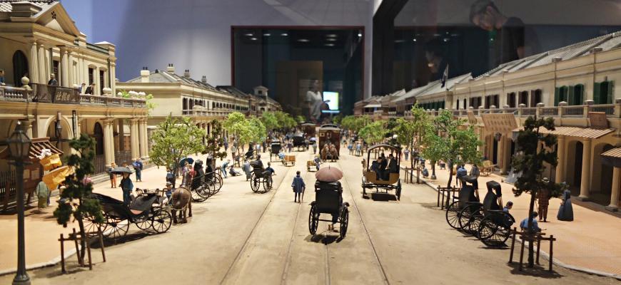 「銀座煉瓦街」的復原模型