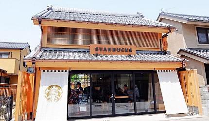 東京埼玉川越景點和風星巴克時鐘小路店